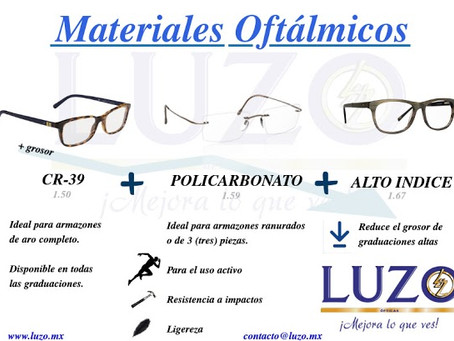 MATERIALES OFTÁLMICOS