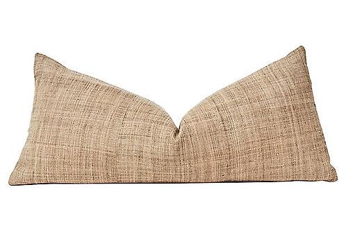 Asian Tribal  Hand-Spun Hemp & Linen Body Pillow