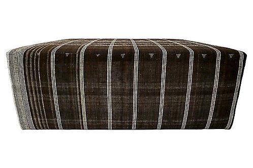 India Hand-Spun Wool Cocktail Ottoman