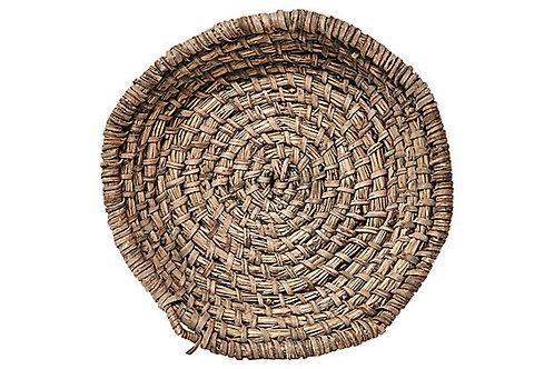 European Rye Straw Basket/Bowl