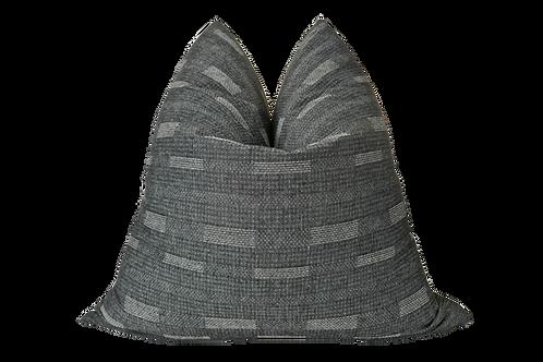 Organic Charcoal Woven Cotton & Linen Pillow