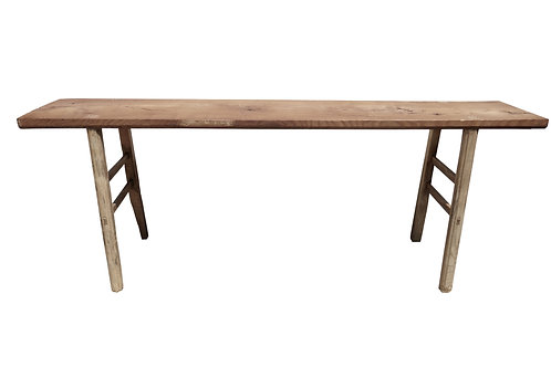 """Asian Vintage Rustic Console Table, 83""""Long"""