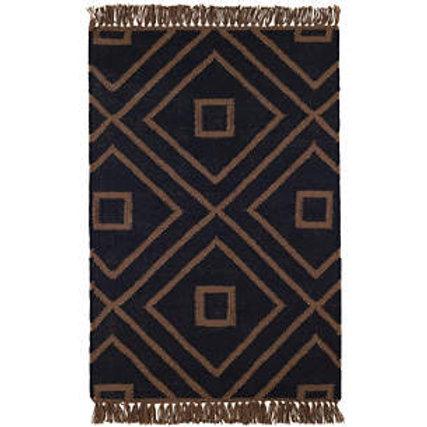 Mali Black Indoor/Outdoor Rug, 2x3