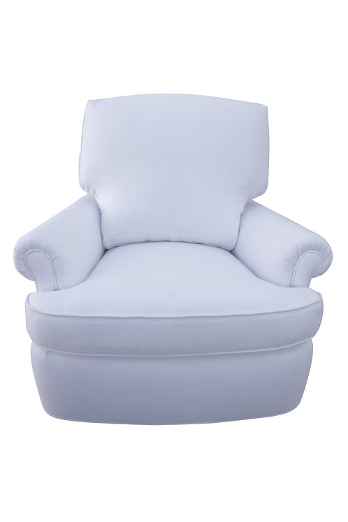 Snow White Linen Swivel/Rocker Chair
