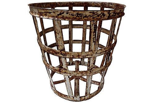 Vintage European Vintner Vessel Basket