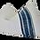 Thumbnail: Fragments Identity White Linen & Indigo Pillow