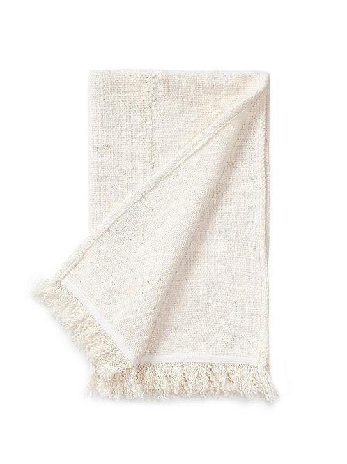 Natural Mud Cloth Place Mat w/ Fringe Detail