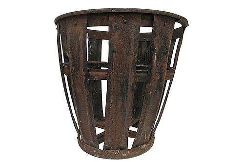 Vintage European Vintner Basket