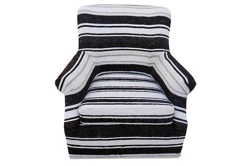 Vintage Berber Wool & Goathair Kilim Swivel Chair