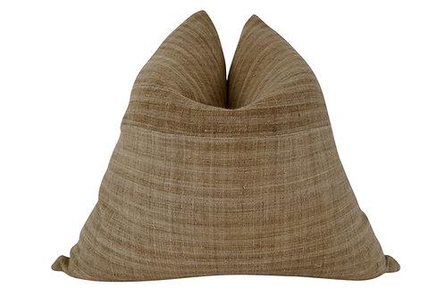 FI Woven Camel Hemp Pillow