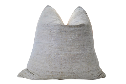 Natural Vintage Hand-Spun French Linen Pillow, Large
