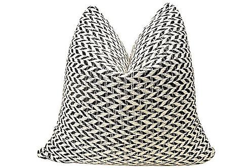 Natural & Black Knit Pillow
