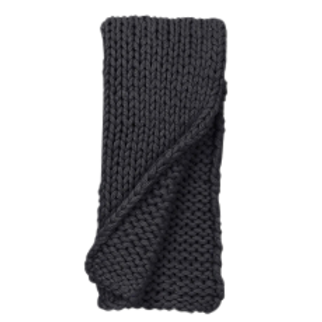 Black Chunky Cable Knit Throw