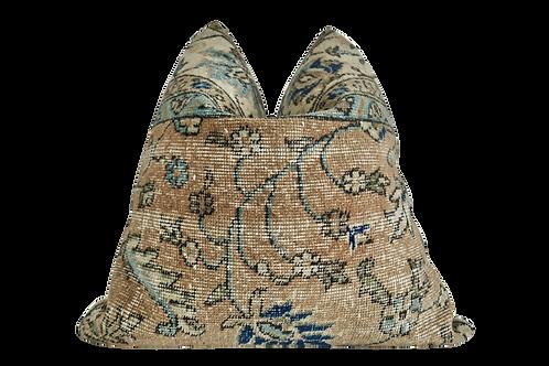 SOLD FI Vintage Oushak Kilim Wool & Hemp Pillow