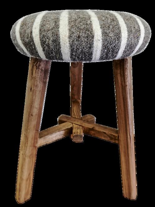 Shandong Elm Stool w/ Tibetan Wool