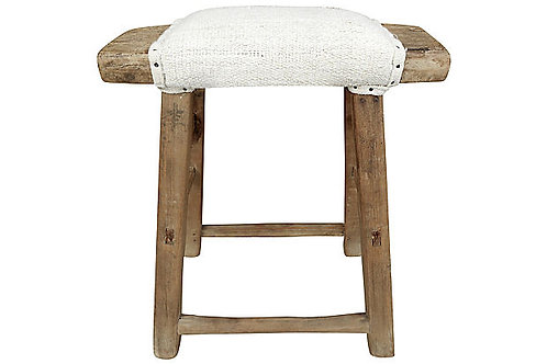 Shandong Stool w/ Natural Hemp Linen