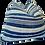 Thumbnail: FI Vintage Faded Indigo Stripe Pillow
