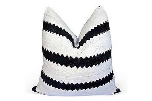 African Mud cloth Zig-Zag Pillow