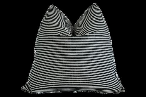 FI European Washed Linen Ticking Stripe Pillow