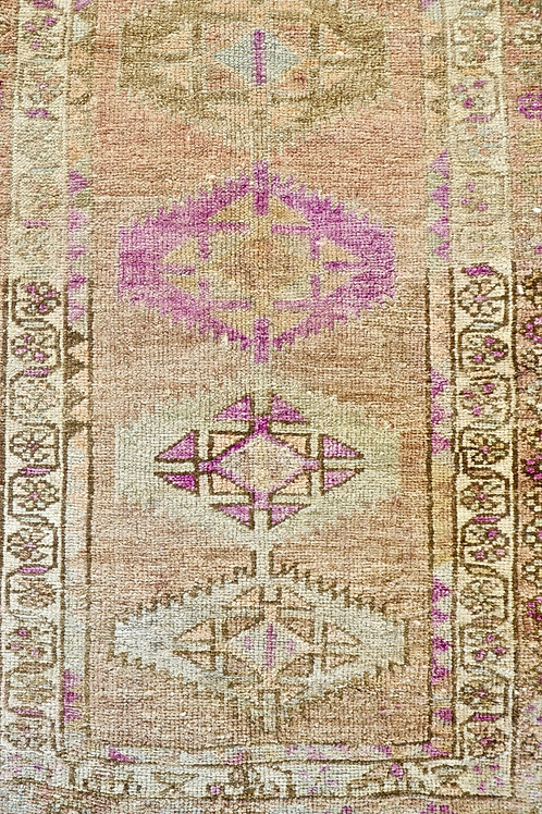 "Long 11'3"" x 3' Vintage Anatolian Kilim Runner Rug"