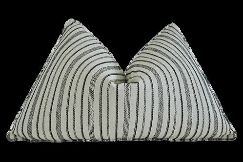 FI European Woven Linen Stripe Pillow