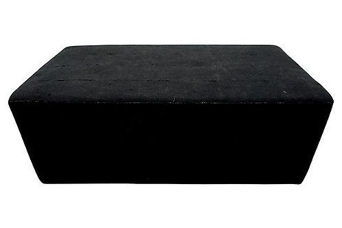 Solid Black Mud Cloth Ottoman