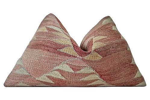 Berber Kilim Hemp/Wool Tamaya Pillow, XL