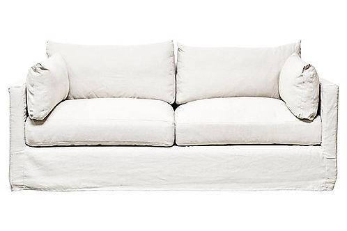 Flax Linen Slipcovered Sofa