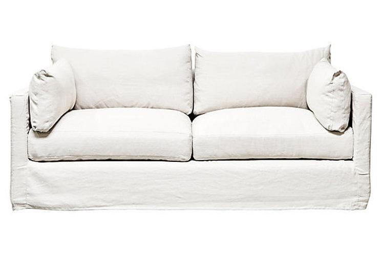 Flax Linen Slipcovered Sofa | fragmentsidentity