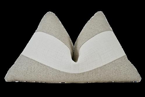 FI Gitano Ivory & Breeze Hemp Weave Pillow