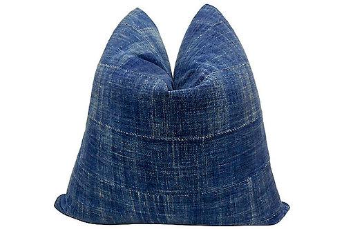 Vintage African Indigo Blues Pillow