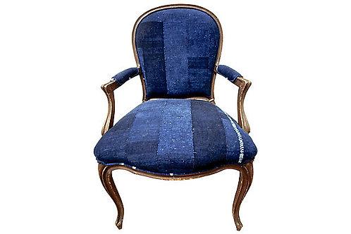 SOLD / FI VIntage Mali Indigo Chair