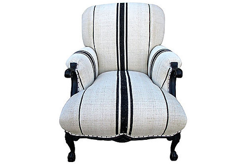 Vintage Chair French Linen Chair