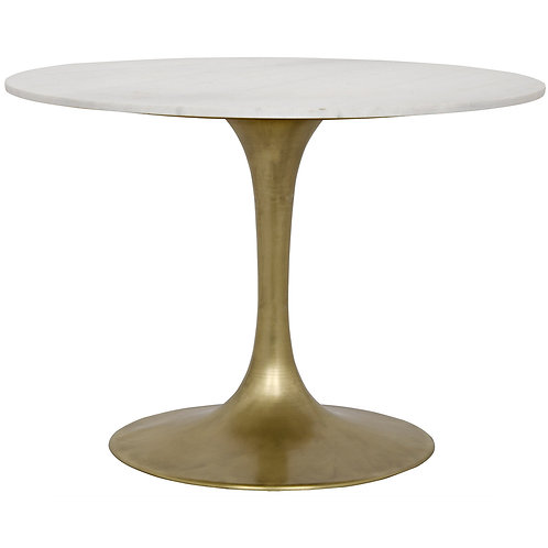 Antique Brass Metal & Quartz Table
