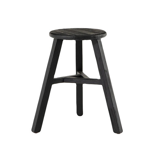 Black Rubbed Counter Stool