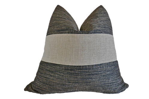 FI Silk Banded Pillow