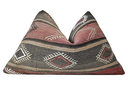 SOLD Berber Kilim Hemp/Wool Tamaya Pillow