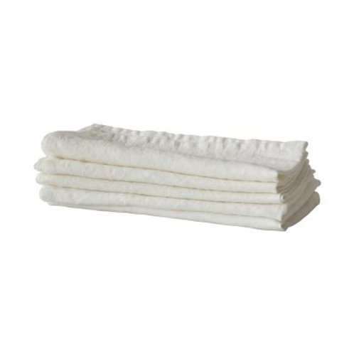 Garment-Washed Natural Table Linen Napkins, set/5