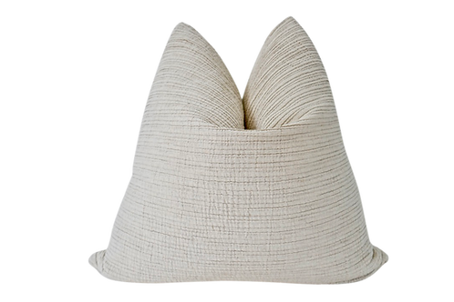 Pleated Organic Washed Cotton Pillow