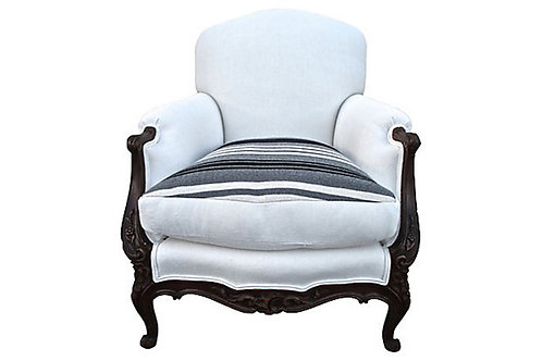 SOLD Antique Bergere w/ Ralph Lauren & French L