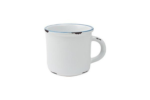 Ivory Stoneware/Tinware Coffee Mug