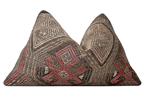SOLD Berber Kilim Hemp/Wool Pillow