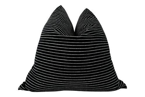 FI Black & White Pencil Stripe Pillow, 24x24