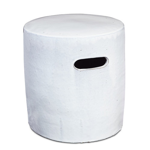 Porcelain Stool, White