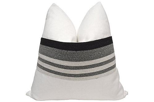 White Linen w/  Trading Blanket Pillow