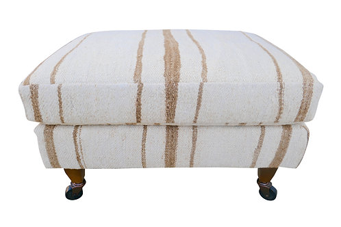 FI Vintage Berber Tribal Kilim Hemp Cushion Top Ottoman