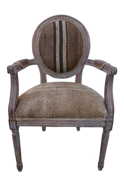 FI Vintage Berber Kilim & Asian Silk Armchair