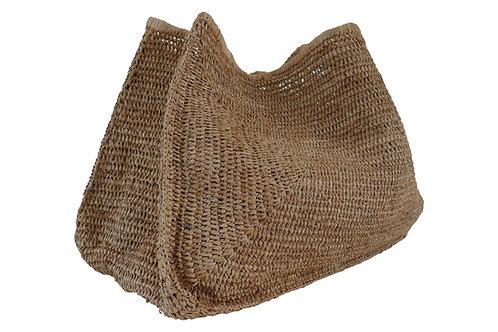 Global Oversized Woven Raffia Straw Bag