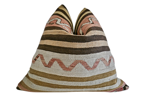SOLD Fragments identity Luxe Berber Kilim Pillow