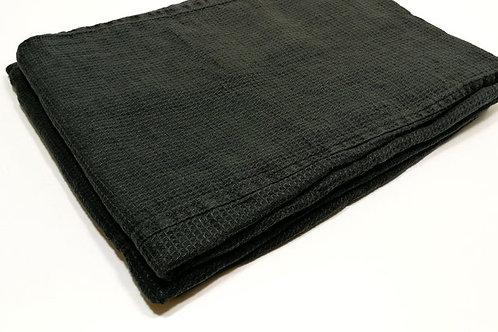 Black Linen Bath Sheet